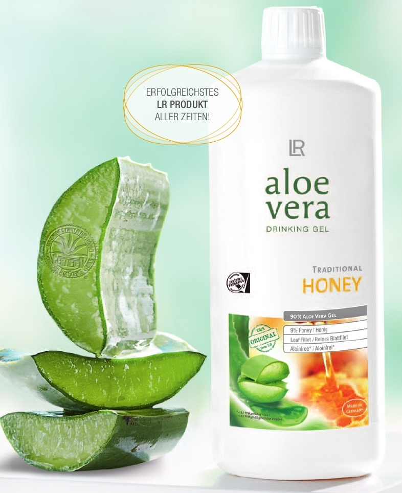 lr aloe vera drinking gel honey trink gel honig natur gesundheit top ebay. Black Bedroom Furniture Sets. Home Design Ideas