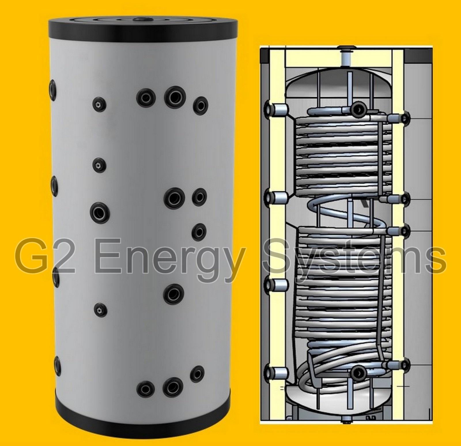 500 750 1000 liter hygienespeicher pufferspeicher mit 2 zus w rmetauscher bhkw ebay. Black Bedroom Furniture Sets. Home Design Ideas